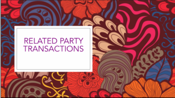Study Notes - Related Party Transactions