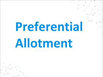 Study Notes - Preferential Allotment