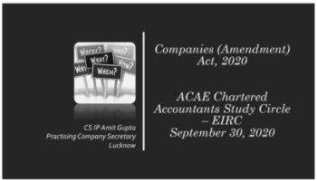 Companies Amendment Act 2020