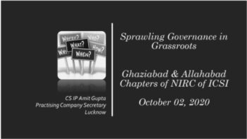 Sprawling Governance in Grassroots