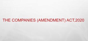 Study Notes - Companies Amendment Act 2020