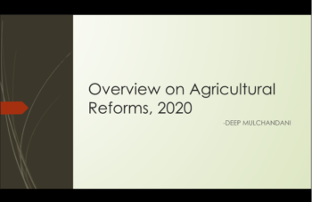 Study Notes - Overview on Agricultural Reforms, 2020