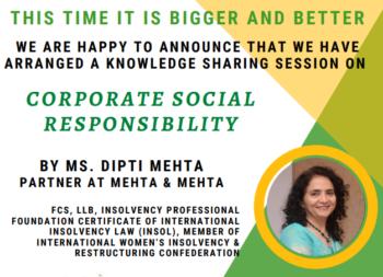 Webinar on CSR - Mehta & Mehta
