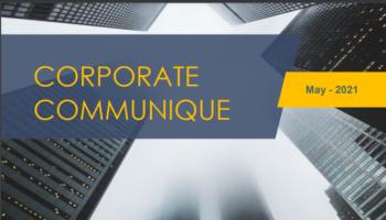 Corporate Communique - May 2021