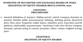 Overview of SEBI Delisting Regulations 2021