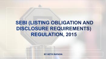 SEBI LODR Regulation - 2015