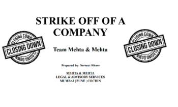 Strike off of a company