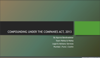 Compounding Under the Companies Act 2013
