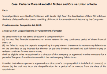 Zacharia Maramkandathil Mohan and Ors. vs. Union of India