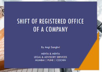 Shift of Registered Office of a Company