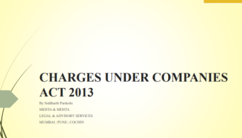 Charges under Companies Act - 2013